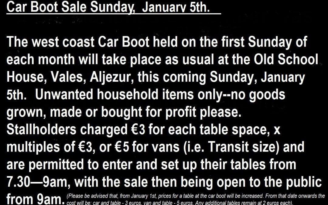 MARKET: CAR BOOT SALE