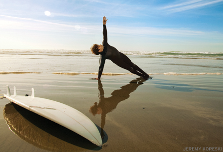 Surfers Yin, with Mieke